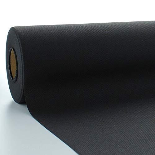 Sovie HORECA Tischdeckenrolle aus Linclass® Airlaid 120 cm x 25 m, 1 Stück (Schwarz)