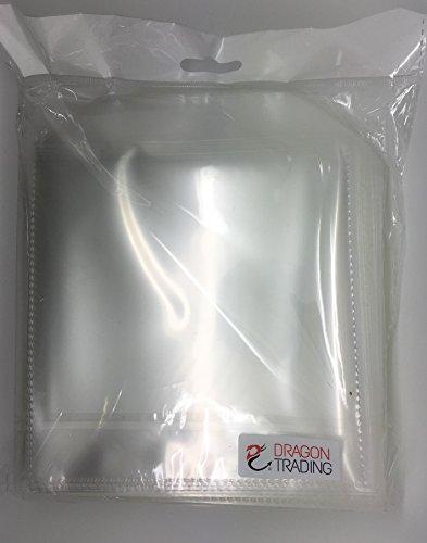 CD- / DVD-Hüllen, transparent, Kunststoff, 100Mikron, Schutzhüllen, 100Stück von Dragon Trading®
