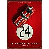 Hunnry 24h Du Mans Poster Metall Blechschilder Retro