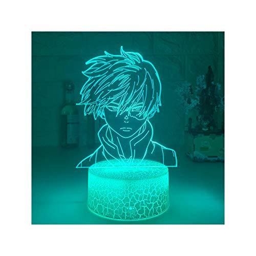 HOKVJ Anime My Hero Academia Shoto Todoroki Diseño De Cara Lámpara De...