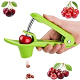 Cherry Pitter Tool, Olive Pitter Tool, Cherry Pitter Remover, Cherry Core Remover Tool with Space-Saving Lock Design, Pit Remover for Cherries