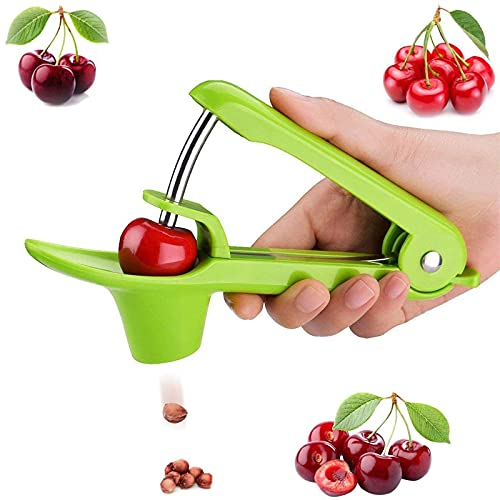 Cherry Pitter Tool Olive Pitter Tool Cherry Pitter Remover Cherry Core Remover Tool with SpaceSaving Lock Design Pit Remover for Cherries