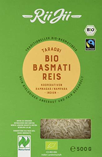 RiiJii Bio Basmati Reis Taraori weiß FairTrade Naturland, 500 g