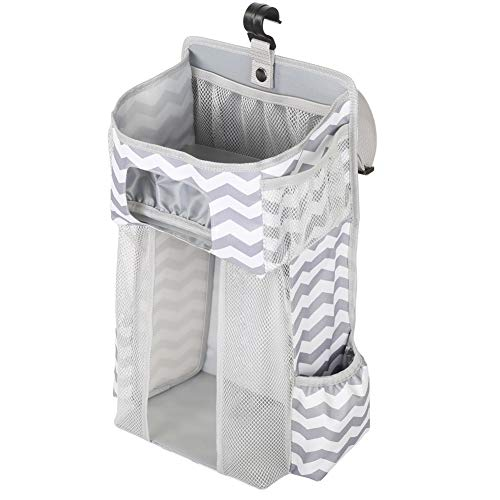 LZYANG Hanging Crib Nappy Organizer Large Capacity Baby Diaper Organiser Portable Baby Carriage Organiser Muitifuctional Nappy Toys Storage Bag for Baby Gifts and Essentials for Newborn and Mum
