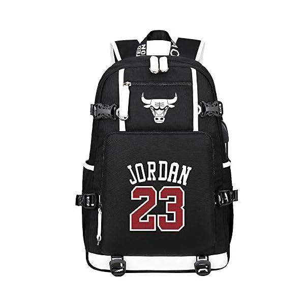 Basketball Star Jordan 23 Mochila Mochila Deportiva para Hombre Mochila De Baloncesto Universitario Mochila Impermeable…