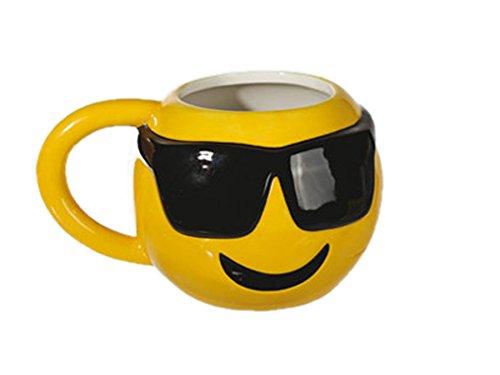 IDEAL Keramik Becher Emotion Smileys Motiv2 10x9 cm Kaffee Tee Tasse Kafeebecher