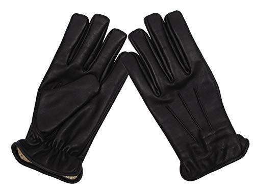 MFH Schnitthemmende Lederhandschuhe Safety (Schwarz/XXL)