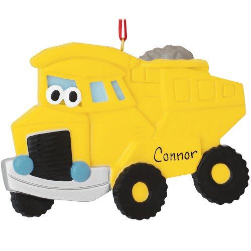 Bronners.com Yellow Dumptruck Character Ornament