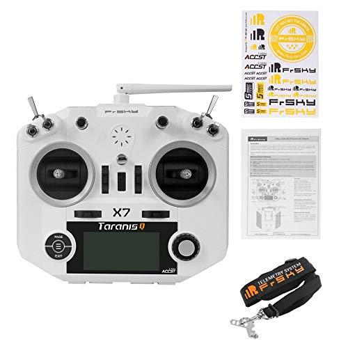 FrSky ACCST Taranis Q X7 QX7 2.4GHz 16CH Pantalla LCD Transmisor de Puerto Inteligente Control de Radio sin Receptor para RC Multicopter - Blanco