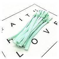 調節可能なバックルの伸縮性のある伸縮性のあるバンドコードを縫う伸縮性のある砂時鋼ヤードのイヤマフロープDiy製造物資 tanglibeng (Color : 緑, Size : 50pcs)