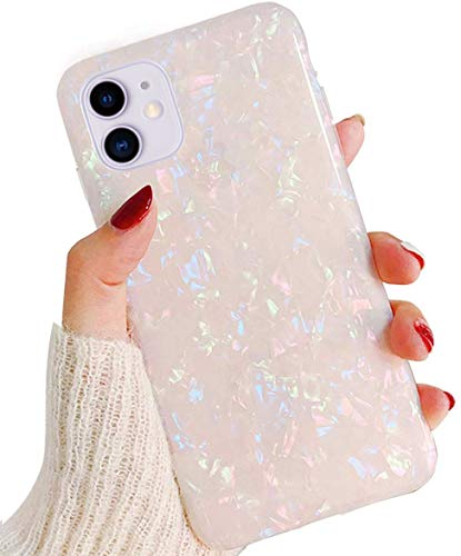 J.west Case for iPhone 11 6.1-inch, Cute Ultra Thin [Tinfoil Series] Macaron Color Bling Lightweight Soft TPU Case Cover for Apple iPhone 11 2019(Colorful)