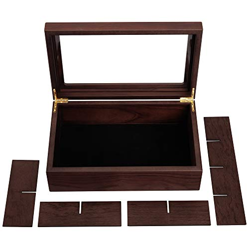 Braune Teebeutelbox aus Holz, verstellbar