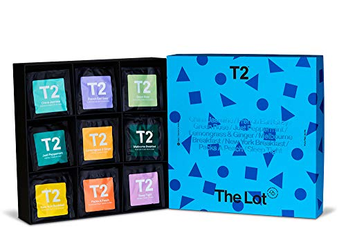T2 Tea The Lot Giftpack 90 Individually Sealed Bags of 9 Black Green Fruit Herbal Teas 190 g, Assorted, 1 Count