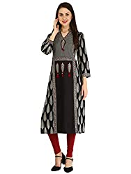nayrah Womens Cambric Straight Kurti