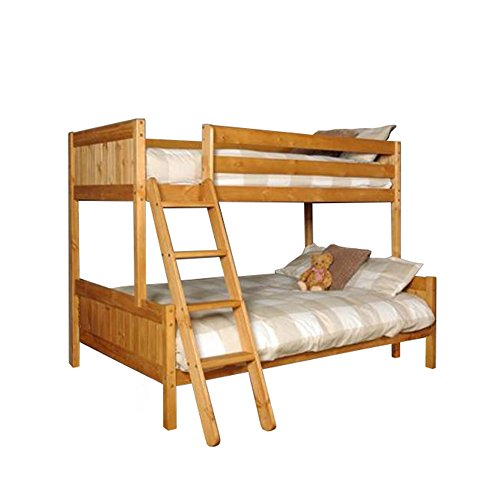 Comfy Living TRIPLE BUNK 3ft & 4ft PINE or WHITE with Mattress Option ENMORE Solid Wood