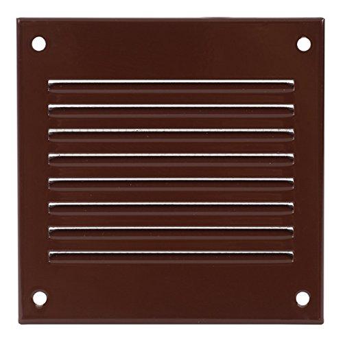 Haeusler-Shop - Rejilla de ventilación con protección contra insectos (100 x 100 mm), color marrón
