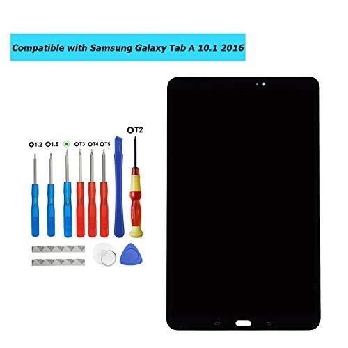 E-YIIVIIL Ersatz LCD Display Kompatibel Für Samsung Galaxy Tab A 10.1 2016 SM-T580 T585 T587 (Schwarz ohne Rahmen) Ersatzteil Reparatur LCD Touch Screen with Toolkit