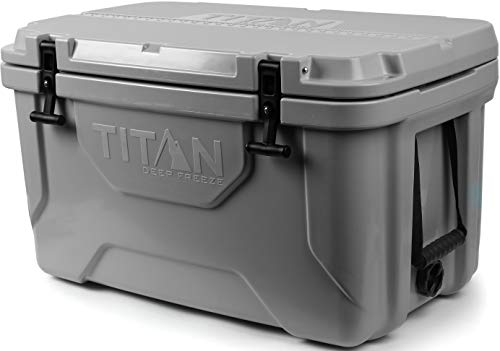 Arctic Zone Titan Deep Freeze 55Q Premium Ice Chest Roto Cooler with Microban Antimicrobial Protection, Gray