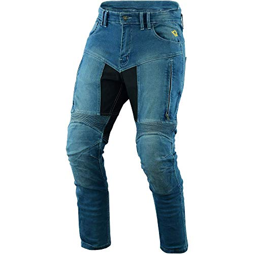 BOSMOTO heren motorbroek mannen motorfiets jeans denim motorfiets broek met beschermers Denim broek 32x32 blauw