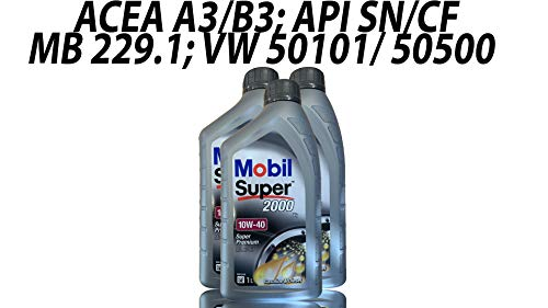 Mobil SUPER 2000 X1 10W-40 3x1 Liter Motoröl Motorenöl 10W40