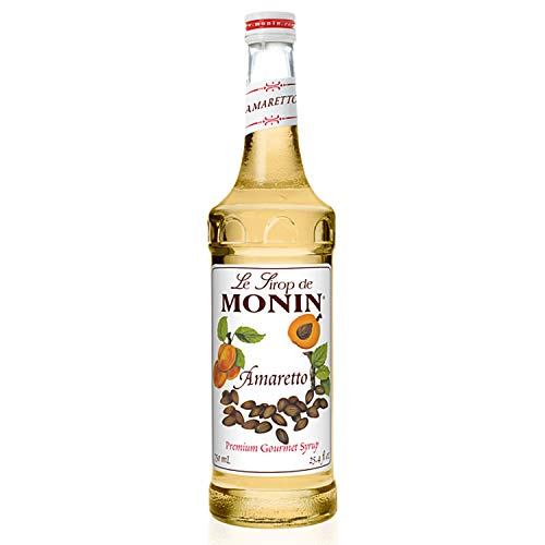 Monin - Amaretto Syrup, Almond-Caramel Cookie Taste, Natural Flavors, Great for Coffees, Lattes, Cocktails, and Mocktails, Non-GMO, Gluten-Free (750 ml)