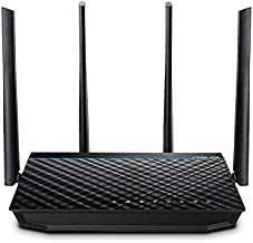 ASUS RT-ACRH17 AC1700 Dual Band WiFi Router with 4 Gigabit LAN Ports, Easy App setup, Parental Control, MU-MIMO, USB 3.0 port, Gaming, 4K Streaming