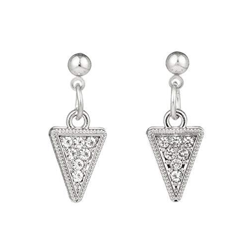 Boucles d'oreilles vacances en forme de coeur brillant boucles d'oreilles en forme de pendants pour les femmes et les filles fiançailles de mariage Triangle d'or 02