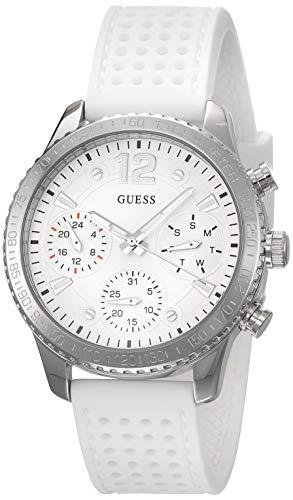 Guess Damen Chronograph Quarz Uhr mit Silikon Armband W1025L1