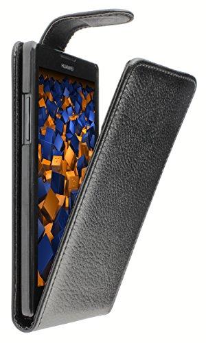 mumbi Tasche Flip Case kompatibel mit Huawei Ascend G700 Hülle Handytasche Case Wallet, schwarz