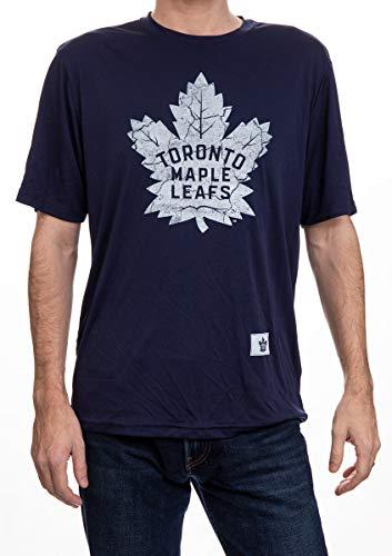 NHL Mens Performance Rashguard Wicking Shirt (Toronto Maple Leafs, Medium)