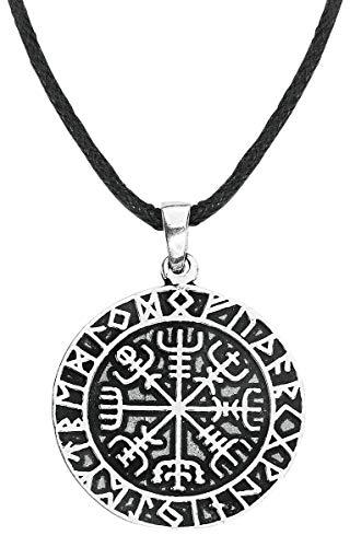 etNox magic and mystic Wikinger Kompass Unisex Anhänger Standard 925er Sterling Silber Wikinger