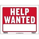 BAZIC 9' X 12' Help Wanted Sign, Now Hiring Jobs Job Fair, Store Mall Restuarant Business Plastic Signs, Vinyl Weather Scratch Resistant Waterproof, Indoor Outdoor, 1-Pack