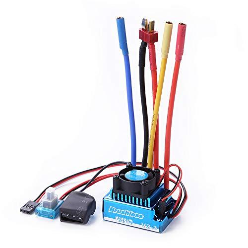 LUNAH DIY Impermeable Modelo sin escobillas Juguetes Controlador de Velocidad eléctrico para 1/8 1/10 1/12 RC Coche Oruga RC Barco Parte 45A 60A 80A 120A