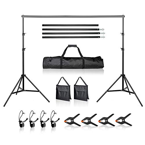 BEIYANG 8.6 x 10 FT Background Stand,Backdrop Support System Kit with Carry Bag for Photo Video Shooting