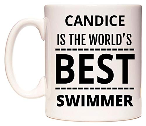 WeDoMugs Candice is The World's Best Swimmer Becher