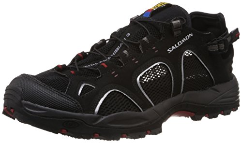 Salomon Men's Techamphibian 3 Trail Running Shoe, quarry, 8 M US