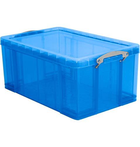 Kunststoffbox, 64 Liter, transparent blau