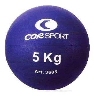 Balón medicinal Cor Sport de 5 kg con agarre