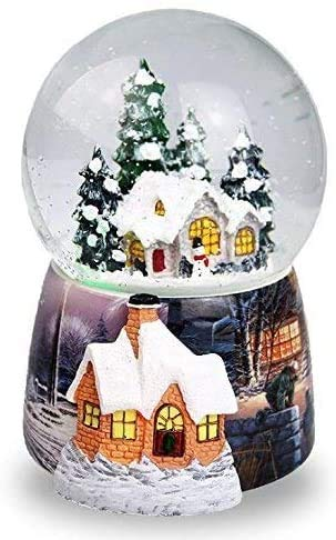Christmas Snow House Crystal Ball Music Box Rotante Automatico A Fiocco Di Neve Carillon Di Natale Casa Decorazione Di Natale Regali Di Compleanno Per Bambini E Ornamento Per Natale Da …