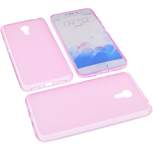 foto-kontor Tasche für Meizu M3 Note Gummi TPU Schutz Handytasche pink