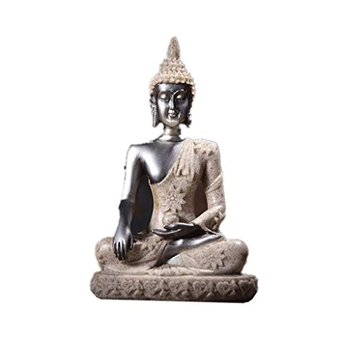 MDD Nature Grès Statue De Bouddha, Thaïlande Bouddha Figurine Hindu Sculpture Méditation Miniature Home Décor (Color : 10)