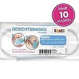 10er Set Mundmaske Einwegmaske Gesichtsmaske 3-lagig Maske für Kinder Gesicht und Nase Kindermaske...