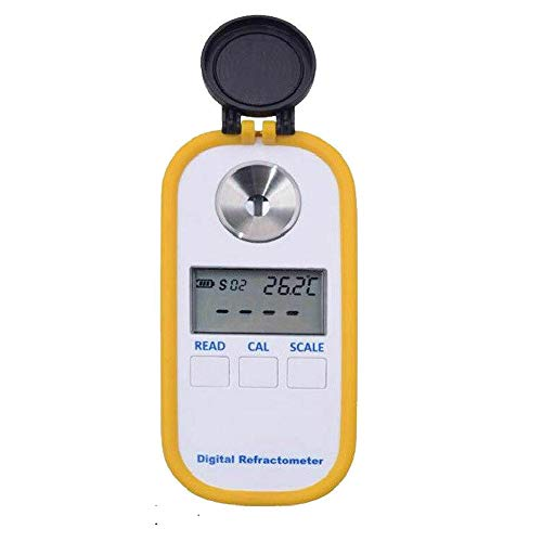 Digital Coffee Densitometer Refractometer, Portable TDS Brix 0-30% Automatic Temperature Sugar Compensation Concentration Meter with BRIX Scale, Densitometer for Measuring Milk Tea, Fruits, Coffee