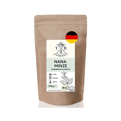 Nana-Minze BIO-Tee geschnitten in Bio-Qualität mit loser Nanaminze (Spearmint, marokkanische Minze),100g | Tea2Be