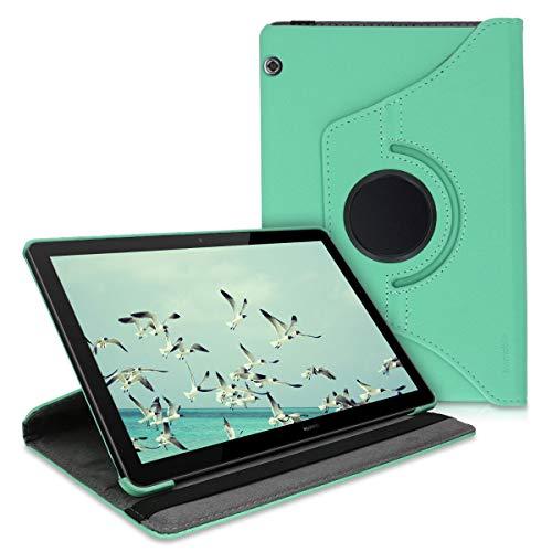 kwmobile Schutzhülle kompatibel mit Huawei MediaPad T5 10 - Hülle 360° Tablet Cover Hülle Mintgrün