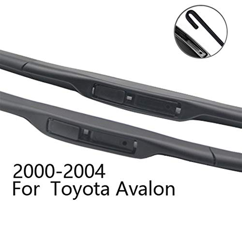 Windscreen Wiper Blade Wiper Blades for Toyota Avalon Fit Pinch Tab Arms/Hook Arms Model Year from 2000 to 2018 (Color : 2000-2004)