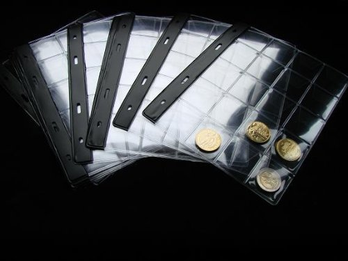 10 extra navulbare coins page pocket grootte 40x35mm voor SCHULZ munten fotoalbum standaard 221 en serie E