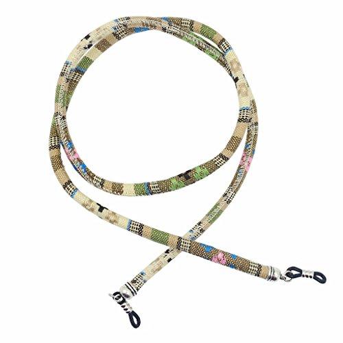 MagiDeal Cinturino Corda Cordini Catena Cinghie Supporto per Occhiali da Sole - Giallo, 70cm