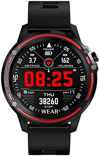 CBCJU Reloj deportivo pulsera inteligente pantalla redonda táctil impermeable multifuncional reloj deportivo