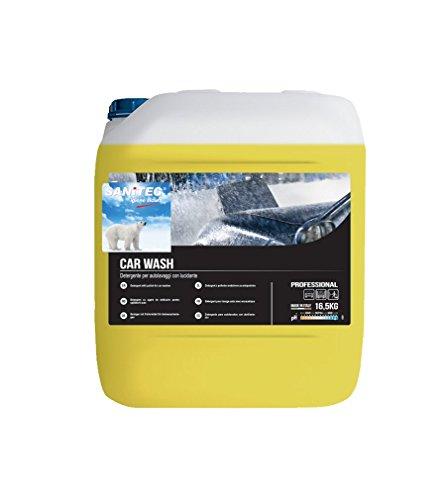 SANITEC Shampoo DETERGENTE Professionale CONCENTRATO per Lavaggio Auto Moto FURGONI Camion - con LUCIDANTE - Art. 2213 - TANICA 16,5 kg